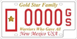 Gold Star Family License Plate