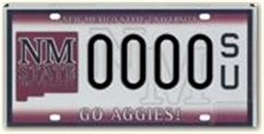 New Mexico State University sample license plate