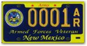 Army Veteran License Plate
