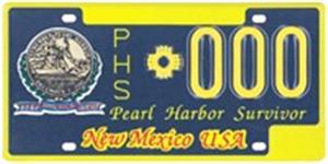 Pearl Harbor Survivor License Plate