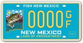 Bass Fishing License Plate Image