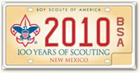 Boy Scout License Plate Image