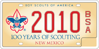 Boy scouts sample license plate