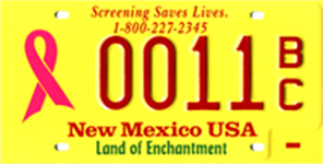 Breast Cancer Awareness License Plate Image