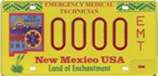 Emergency Medical Technicians License Plate Picture