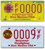 Firefighters and Volunteer Firefighters License Plate Picture