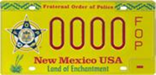 Picture of Fraternal Order of Police License Plate