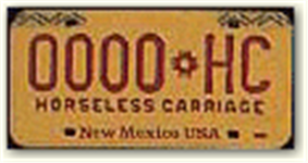 Horseless Carriage License Plate for Motorcycle