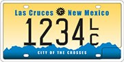 Las Cruces sample license plate