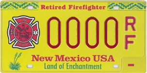 Retired Firefighters License Plate Picture