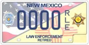 Picture of Retired Law Enforcement License Plate
