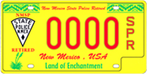 Retired NM State Police License Plate