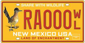 Wildlife Artwork License Plate Image