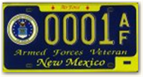 Air Force Veterans License Plate