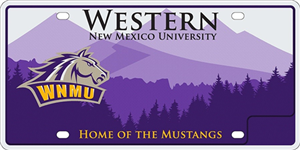 Western New Mexico University License Plate