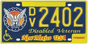 Disabled Veteran License Plate