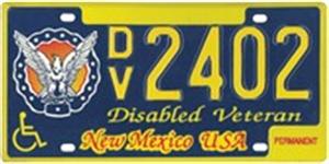 Disabled Veteran License Plate