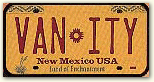 Red and Yellow vanity license plate