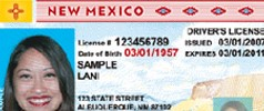 Sample New Mexico drivers license
